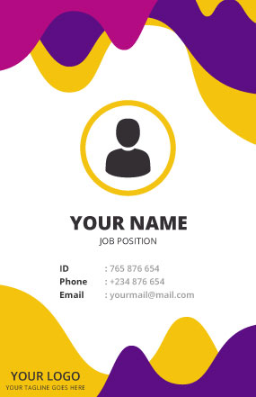 ID Card Design Sample
